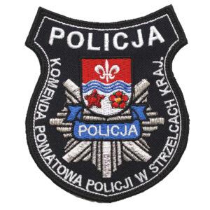 Strzelce Krajeńskie – Naszywka Policja – Komenda Powiatowa Policji w Strzelcach Krajeńskich NPO1096 IND