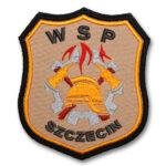 Piaskowy emblemat naramienny, naszywka na mundur Straż WSP WZ09