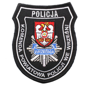 Września – Naszywka Policja Komenda Powiatowa Policji we Wrześni NPO1121 IND