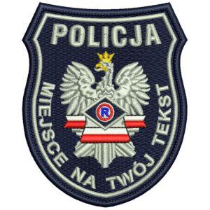 Naszywka Policja Wydział Ruchu Drogowego IND B3