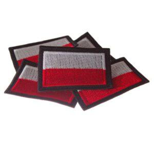 Naszywka haftowana flaga Polski 60x40mm (6x4cm)