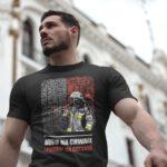 Bogu na chwałę ludziom na ratunek, męska czarna koszulka STRAŻACKA z nadrukiem DTG0027