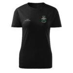 Damska czarna koszulka strażacka HAFT-DRUK Toporki i Hełm