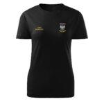 Damska czarna koszulka strażacka HAFT-DRUK Orzeł Polska
