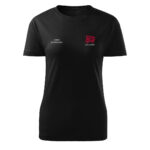Damska czarna koszulka strażacka HAFT-DRUK WZ10 MDP