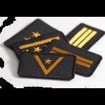 Dystynkcje PSP na mundur bojowy