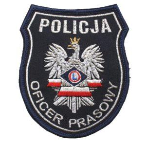 Naszywka naramienna Policja Oficer Prasowy IND