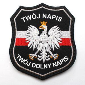 Naszywka naramienna STRAŻ Pożarna Orzeł Polski OSP PSP