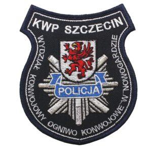 Szczecin – Naszywka Policja – KWP Szczecin Wydział Konwojowy Ogniwo Konwojowe w Nowogradzie NPO1106 IND