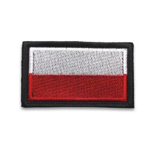 Naszywka haftowana flaga Polski 9x5cm (90x50mm) kamizelka taktyczna