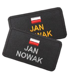 Emblemat naszywka imiennik z FLAGĄ POLSKI