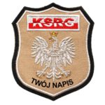 Naszywka naramienna piaskowa KSRG STRAŻ Pożarna Orzeł Polski OSP