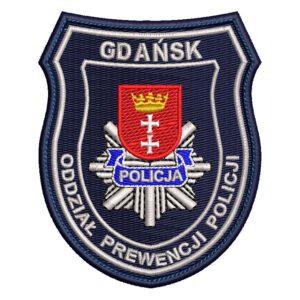 Gdańsk – Naszywka policja Gdańsk Oddział Prewencji Policji NPO1028 IND