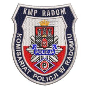 Radom – naszywka policja KMP Radom Komisariat Policji w Radomiu NPO1030 IND