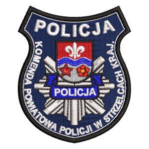 Strzelce Krajeńskie – naszywka policja Komeda Powiatowa Policji w Strzelcach Krajeńskich NPO1031 IND