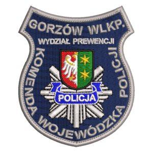 Gorzów Wlkp. – naszywka Policja komenda wojewódzka policji Gorzów Wlkp Wydział Prewencji NPO1032 IND