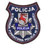Brodnica – naszywka policja Komenda Powiatowa Policji w Brodnicy NPO1033 IND