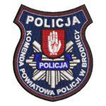 Brodnica – naszywka policja komenda powiatowa policji w Brodnicy NPO1034 IND