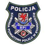 Stargard – naszywka policja Komenda Powiatowa Policji w Stargardzie NPO1035 IND