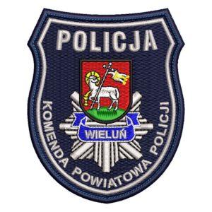 Wieluń – naszywka policja Komenda Powiatowa Policji Wieluń NPO1036 IND