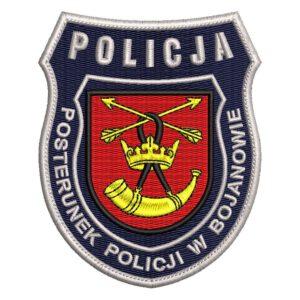 Bojanowo – naszywka policja posterunek policji w Bojanowie NPO1047 IND