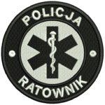 Haftowana naszywka POLICJA Ratownik 85mm IND