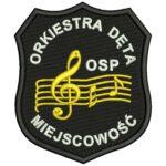Naszywka naramienna STRAŻ Pożarna Orkiestra Dęta OSP ind