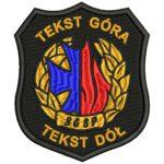 Szkoła Główna Służby Pożarniczej naszywka naramienna STRAŻ Pożarna PSP