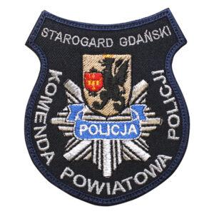 Starogard Gdański – Naszywka Policja Komenda Powiatowa Policji Starogard Gdański NPO1018 IND