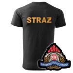 Czarna koszulka strażacka HAFT WZ05 PSP