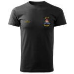 Czarna koszulka strażacka HAFT-DRUK WZ05 PSP żółty napis