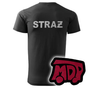 Czarna koszulka strażacka HAFT WZ12 MDP