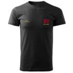 Czarna koszulka strażacka HAFT-DRUK WZ10 MDP
