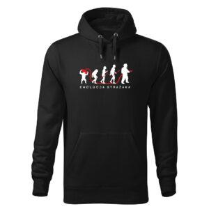 Ewolucja strażaka, czarna bluza strażacka z kapturem DTG019
