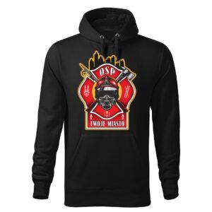 Męska bluza STRAŻACKA z nadrukiem prezent dla strażaka DTG0034