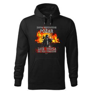 Męska bluza STRAŻACKA z nadrukiem prezent dla strażaka DTG0044