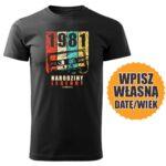 Narodziny legendy czarna koszulka urodzinowa DTG0057