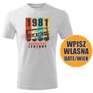 Narodziny legendy biała koszulka urodzinowa DTG0057