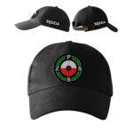 Czarna czapka z daszkiem SĘDZIA Polski Związek Strzelectwa Sportowego PZSS PLT
