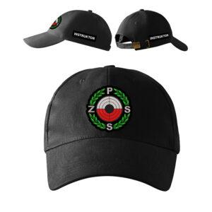 Czarna czapka z daszkiem Instruktor Strzelectwa Sportowego PLT