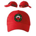 Czerwona czapka z daszkiem INSTRUKTOR Polski Związek Strzelectwa Sportowego PZSS PLT