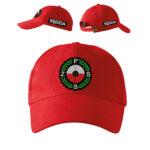 Czerwona czapka z daszkiem SĘDZIA Polski Związek Strzelectwa Sportowego PZSS PLT