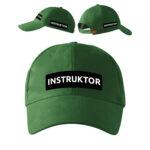 Zielona czapka z daszkiem INSTRUKTOR Strzelectwa Sportowego PLT