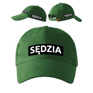 Zielona czapka z daszkiem Sędzia Strzelectwa Sportowego PLT