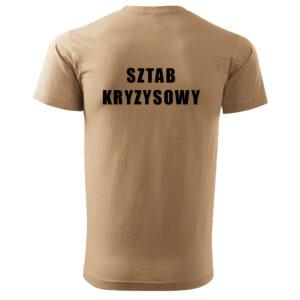 Koszulka t-shirt sztab kryzysowy DTG
