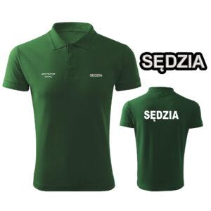 Zielona koszulka polo SĘDZIA STRZELECTWA SPORTOWEGO HAFT-DRUK