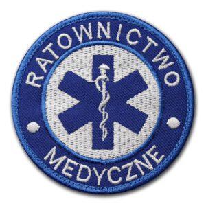 Haftowana naszywka ratownictwo medyczne 85mm IND