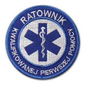 Haftowana naszywka ratownik kwalifikowanej pierwszej pomocy 85mm IND