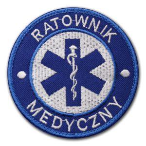 Haftowana naszywka ratownik medyczny 85mm IND