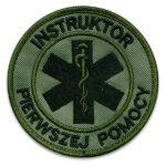 Haftowana militarna naszywka Instruktor Pierwszej Pomocy 85mm IND